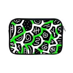 Green Playful Design Apple Ipad Mini Zipper Cases by Valentinaart