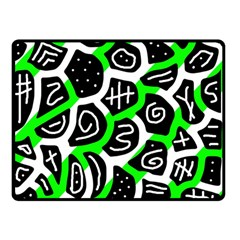 Green Playful Design Double Sided Fleece Blanket (small)  by Valentinaart