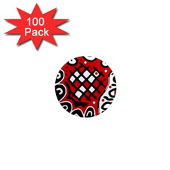Red High Art Abstraction 1  Mini Magnets (100 Pack)  by Valentinaart