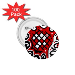 Red High Art Abstraction 1 75  Buttons (100 Pack)  by Valentinaart