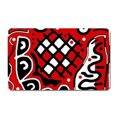 Red High Art Abstraction Magnet (rectangular)