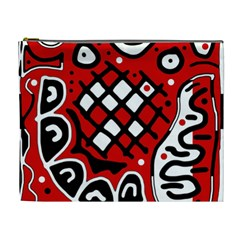 Red High Art Abstraction Cosmetic Bag (xl) by Valentinaart