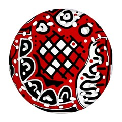 Red high art abstraction Ornament (Round Filigree)