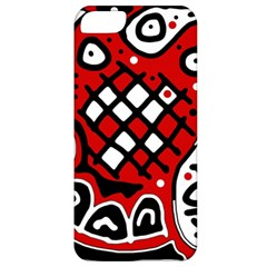 Red High Art Abstraction Apple Iphone 5 Classic Hardshell Case by Valentinaart