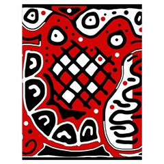 Red High Art Abstraction Drawstring Bag (large) by Valentinaart
