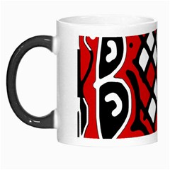 Red High Art Abstraction Morph Mugs by Valentinaart