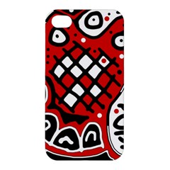 Red High Art Abstraction Apple Iphone 4/4s Hardshell Case by Valentinaart