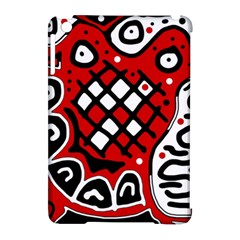 Red High Art Abstraction Apple Ipad Mini Hardshell Case (compatible With Smart Cover) by Valentinaart
