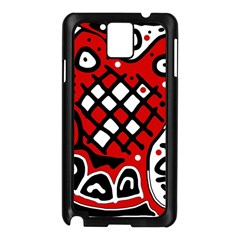 Red High Art Abstraction Samsung Galaxy Note 3 N9005 Case (black) by Valentinaart
