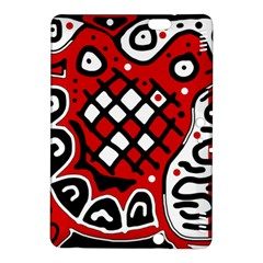 Red High Art Abstraction Kindle Fire Hdx 8 9  Hardshell Case by Valentinaart
