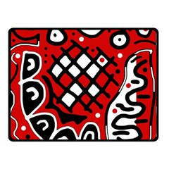 Red High Art Abstraction Double Sided Fleece Blanket (small)  by Valentinaart