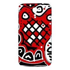 Red High Art Abstraction Samsung Galaxy Mega I9200 Hardshell Back Case by Valentinaart