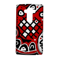 Red High Art Abstraction Lg G4 Hardshell Case by Valentinaart