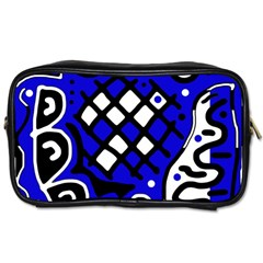 Blue High Art Abstraction Toiletries Bags by Valentinaart