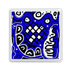 Blue High Art Abstraction Memory Card Reader (square)  by Valentinaart