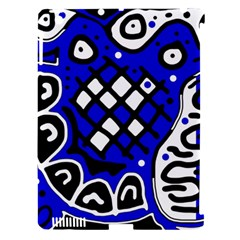 Blue High Art Abstraction Apple Ipad 3/4 Hardshell Case (compatible With Smart Cover) by Valentinaart