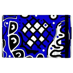 Blue High Art Abstraction Apple Ipad 2 Flip Case by Valentinaart