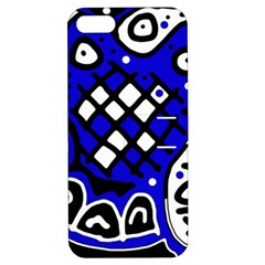 Blue High Art Abstraction Apple Iphone 5 Hardshell Case With Stand by Valentinaart