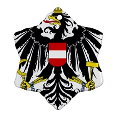 Coat Of Arms Of Austria Snowflake Ornament (2 Side) by abbeyz71