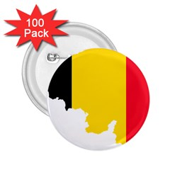 Belgium Flag Map 2 25  Buttons (100 Pack)  by abbeyz71
