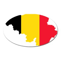Belgium Flag Map Oval Magnet by abbeyz71