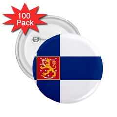 State Flag Of Finland  2 25  Buttons (100 Pack)  by abbeyz71