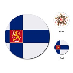 State Flag Of Finland  Playing Cards (round)  by abbeyz71