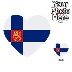 State Flag Of Finland  Multi Purpose Cards (heart)  by abbeyz71