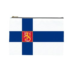State Flag Of Finland  Cosmetic Bag (large)  by abbeyz71