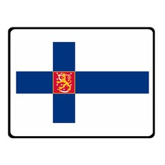 State Flag Of Finland  Fleece Blanket (small) by abbeyz71