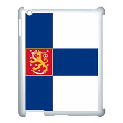 State Flag Of Finland  Apple Ipad 3/4 Case (white) by abbeyz71