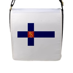 State Flag Of Finland  Flap Messenger Bag (l)  by abbeyz71