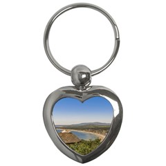 Landscape Aerial View Piriapolis Uruguay Key Chains (heart)  by dflcprints