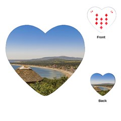 Landscape Aerial View Piriapolis Uruguay Playing Cards (heart)