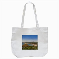 Landscape Aerial View Piriapolis Uruguay Tote Bag (white) by dflcprints