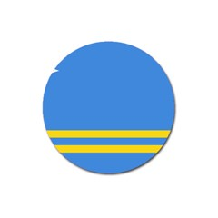 Flag Of Aruba Magnet 3  (round)