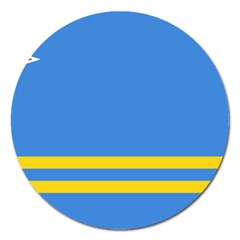 Flag Of Aruba Magnet 5  (round)