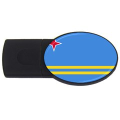Flag Of Aruba Usb Flash Drive Oval (4 Gb)  by abbeyz71
