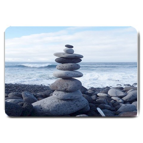 Stacking Stones Zen Balance Formated Template  For Doormat Matching Set  : S By Pamela Sue Goforth   Large Doormat   S5phr45tt2qt   Www Artscow Com 30 x20 Door Mat - 1