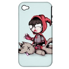 Bad Bitch Red Apple Iphone 4/4s Hardshell Case (pc+silicone) by lvbart