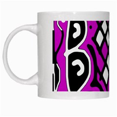 Magenta High Art Abstraction White Mugs by Valentinaart