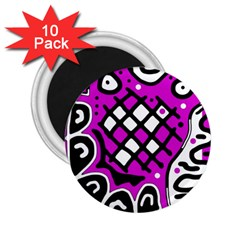 Magenta High Art Abstraction 2 25  Magnets (10 Pack)  by Valentinaart