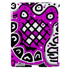Magenta High Art Abstraction Apple Ipad 3/4 Hardshell Case (compatible With Smart Cover) by Valentinaart