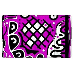 Magenta High Art Abstraction Apple Ipad 2 Flip Case by Valentinaart