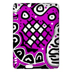 Magenta High Art Abstraction Kindle Fire Hdx Hardshell Case by Valentinaart