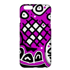 Magenta High Art Abstraction Apple Iphone 6 Plus/6s Plus Hardshell Case by Valentinaart
