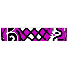 Magenta High Art Abstraction Flano Scarf (small) by Valentinaart