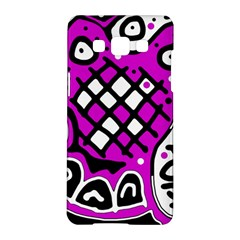 Magenta High Art Abstraction Samsung Galaxy A5 Hardshell Case  by Valentinaart