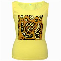 Yellow High Art Abstraction Women s Yellow Tank Top by Valentinaart