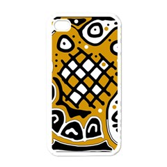 Yellow High Art Abstraction Apple Iphone 4 Case (white) by Valentinaart